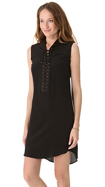 Derek Lam 10 Crosby Lace Up Sleeveless Dress