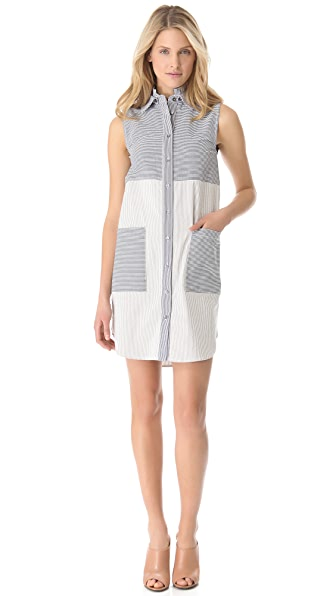 Derek Lam 10 Crosby Seersucker Tunic Dress