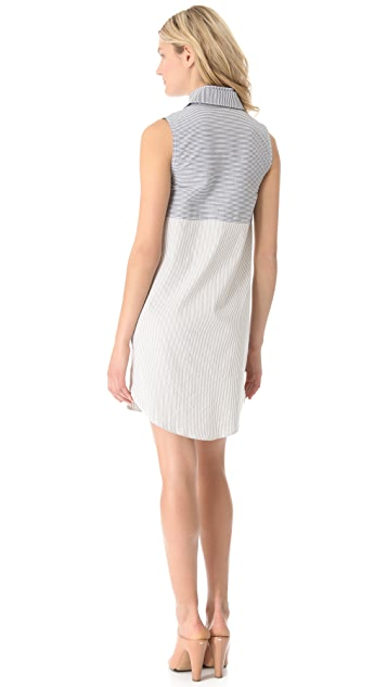 Derek Lam 10 Crosby Seersucker Tunic Dress