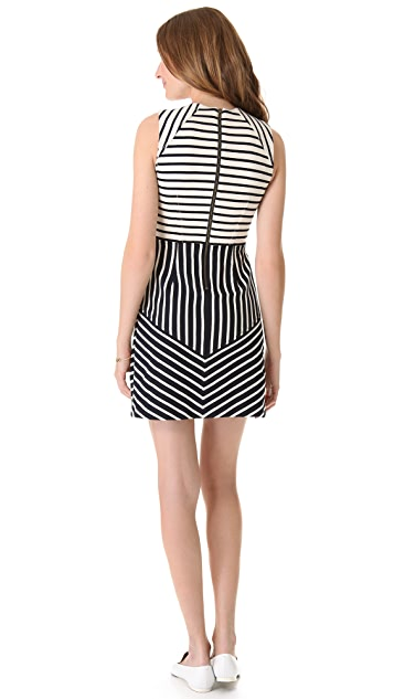 Derek Lam 10 Crosby Sleeveless Combo Stripe Dress