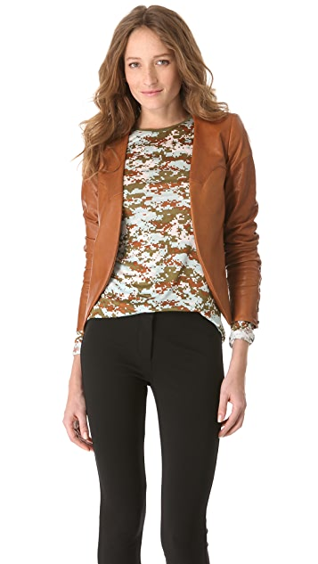 Derek Lam 10 Crosby Laced Leather Jacket