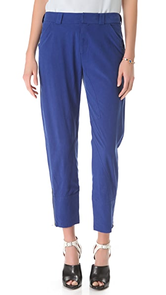 Derek Lam 10 Crosby Slouchy Silk Trousers