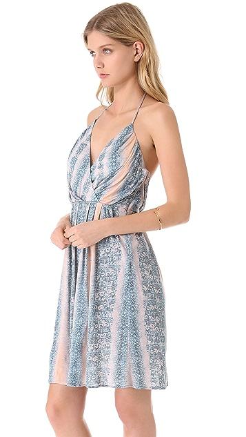 Derek Lam 10 Crosby Lizard Jersey Halter Dress