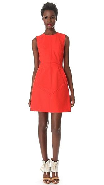 Derek Lam 10 Crosby Seamed Sleeveless Dress