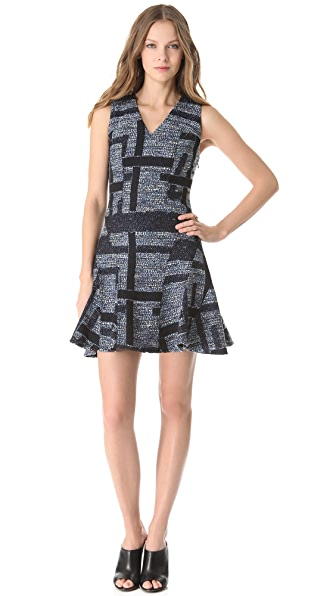 Derek Lam 10 Crosby Tweed Tulip Dress