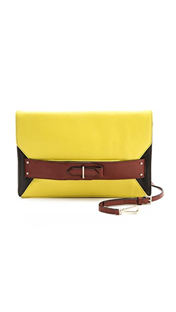 Derek Lam 10 Crosby Colorblock Folio Clutch