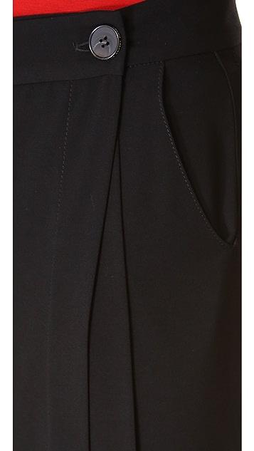 Derek Lam 10 Crosby Pleated Wide Leg Pants