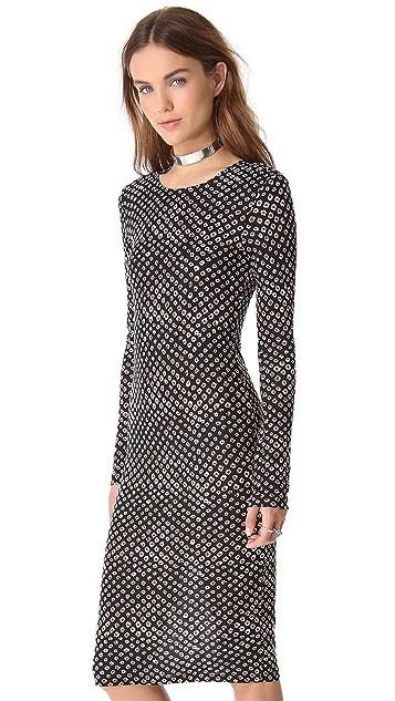 Derek Lam 10 Crosby Leopard Print Jersey Dress