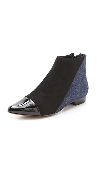 Derek Lam 10 Crosby Austin Pointed Flat Booties