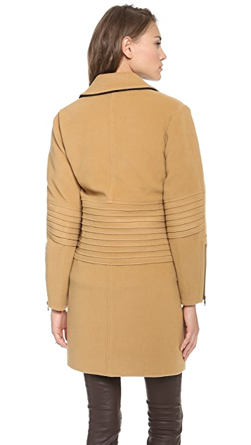 Derek Lam 10 Crosby Engineered Long Moto Coat