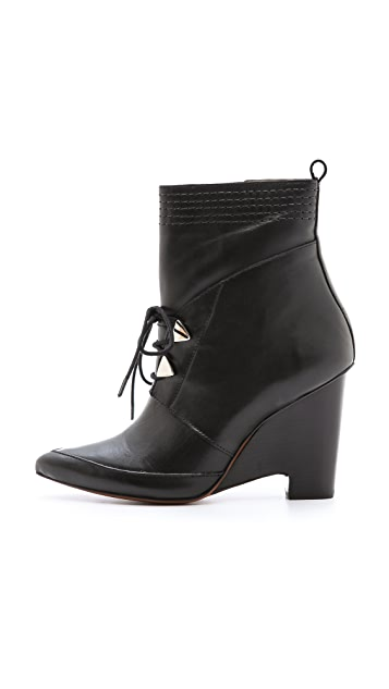 Derek Lam 10 Crosby Yola Wedge Booties