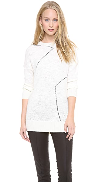 Derek Lam 10 Crosby Distressed Knit Tunic