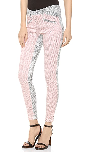 Derek Lam 10 Crosby Skinny Colorblock Pants