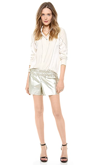 Derek Lam 10 Crosby Metallic Boxer Shorts