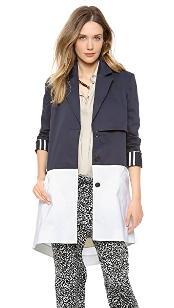 Derek Lam 10 Crosby Cape Trench with Back Zip