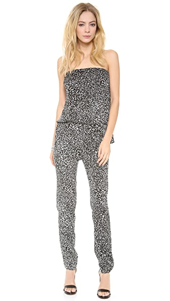 Derek Lam 10 Crosby Travertine Print Strapless Jumpsuit