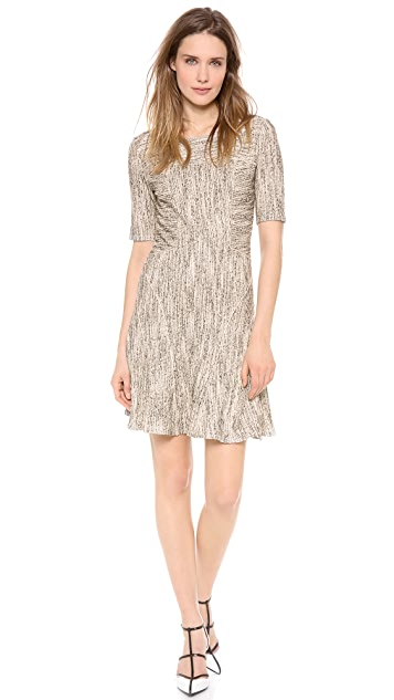 Derek Lam 10 Crosby Half Sleeve Fit & Flare Dress
