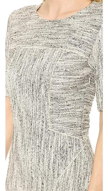 Derek Lam 10 Crosby Half Sleeve Fit & Flare Dress