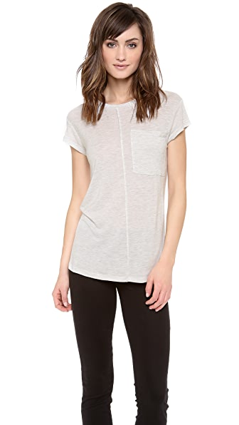 Derek Lam 10 Crosby Short Sleeve Pocket Tee