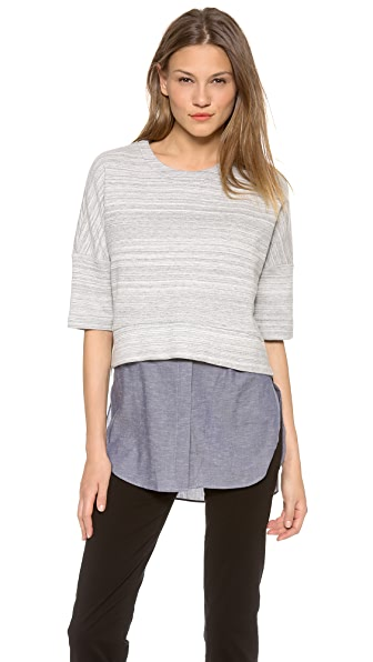 Derek Lam 10 Crosby 2 in 1 Combo Sweater Tunic