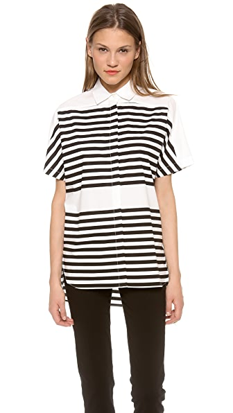 Derek Lam 10 Crosby Striped Shirt
