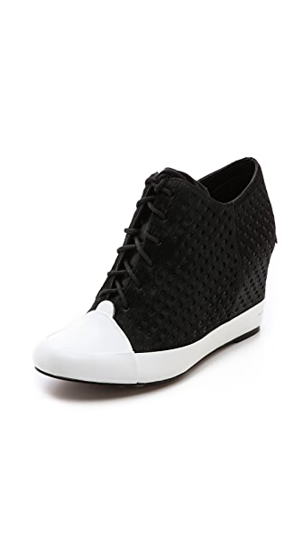 Derek Lam 10 Crosby Meryl Perforated Wedge Sneakers