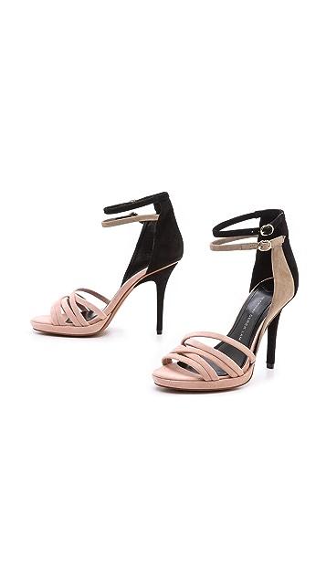 Derek Lam 10 Crosby Jules Colorblock Ankle Strap Sandals