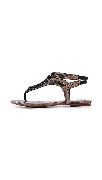 Derek Lam 10 Crosby Damast Chain Link Flat Sandals