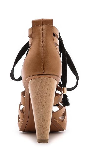 Derek Lam 10 Crosby Jasmin Strappy Lace Up Sandals
