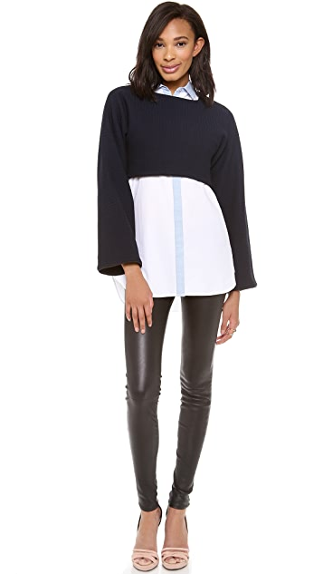 Derek Lam 10 Crosby Long Sleeve Crop Top