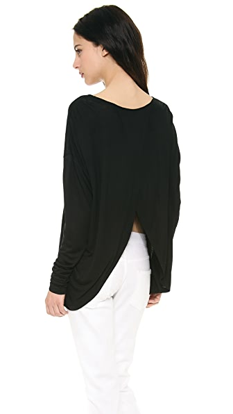 Derek Lam 10 Crosby Long Sleeve Tee with Crossover Back