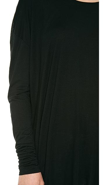Derek Lam 10 Crosby Long Sleeve Tee with Crossover Back