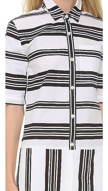 Derek Lam 10 Crosby Striped Shirtdress