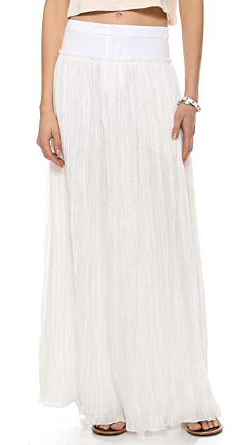 Derek Lam 10 Crosby Pleated Maxi Skirt