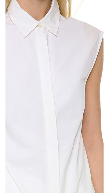 Derek Lam 10 Crosby Shirtdress with Ruffle
