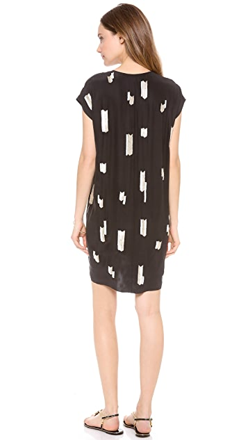 Derek Lam 10 Crosby Chevron Embellished Dress