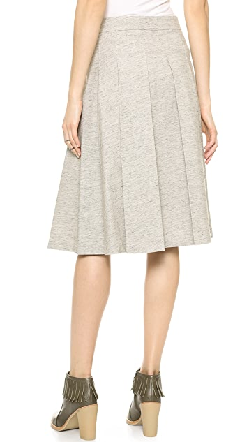 Derek Lam 10 Crosby Box Pleat Tea Length Skirt