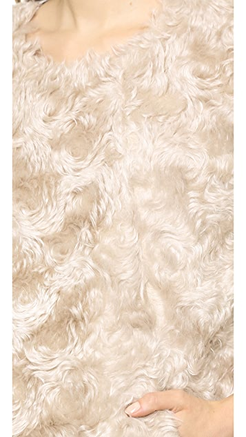 Derek Lam 10 Crosby Shirt with Faux Fur