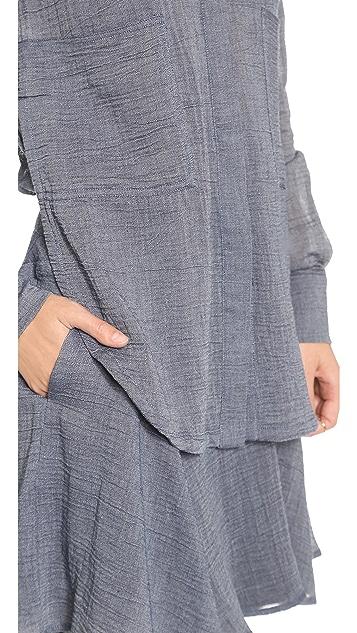 Derek Lam 10 Crosby Two Pocket Shirtdress