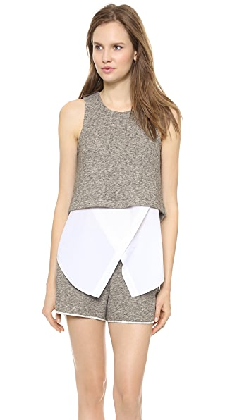 Derek Lam 10 Crosby Layered Tank