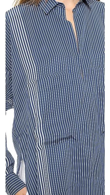 Derek Lam 10 Crosby Oversized Two Pocket Top
