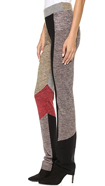 Derek Lam 10 Crosby Straight Leg Patchwork Pants