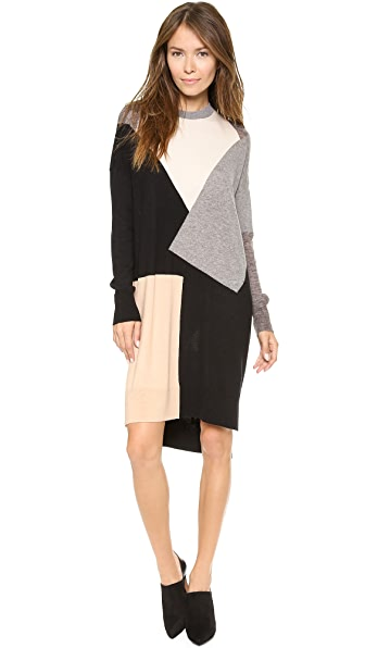 Derek Lam 10 Crosby Tunic Patchwork Sweater Dress