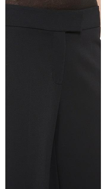 Derek Lam 10 Crosby Cuffed Wide Leg Crop Trousers