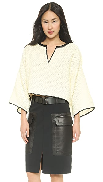 Derek Lam 10 Crosby Wide Sleeve Crop Top