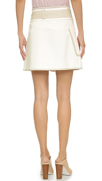 Derek Lam 10 Crosby Wrap Skirt with Buckles