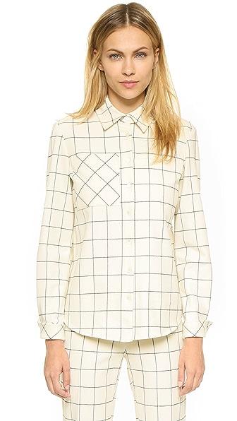 Derek Lam 10 Crosby Flannel Plaid Shirt