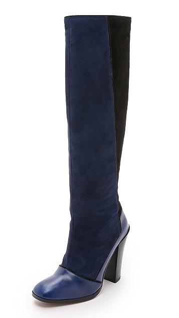 Derek Lam 10 Crosby Carmen Patchwork Boots
