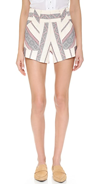 Derek Lam 10 Crosby Tapestry Shorts