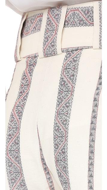 Derek Lam 10 Crosby Tapestry Shorts